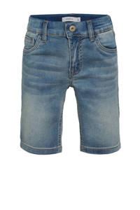 NAME IT KIDS jeans short Theo met biologisch katoen light denim, Light denim