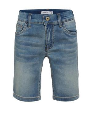 jeans short Theo met biologisch katoen light denim