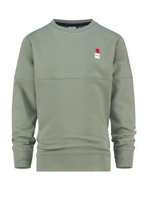 sweater licht army groen