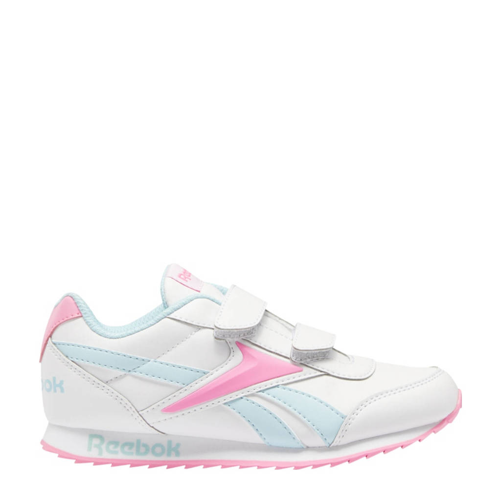 Reebok Classics Royal Classic Jogger 2 sneakers wit/lichtblauw/roze, Wit/lichtblauw/roze