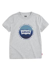 Levi's Kids T-shirt Graphic met logo grijs melange, Grijs melange