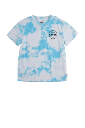 Levi's Kids tie-dye T-shirt lichtblauw/wit