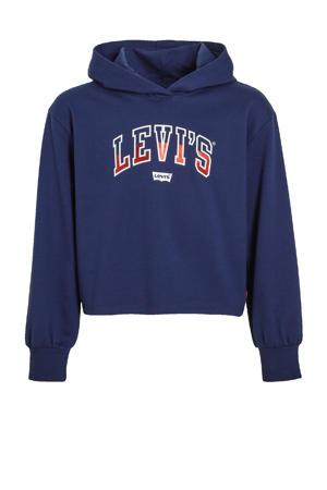 Levi's Kids hoodie met logo donkerblauw
