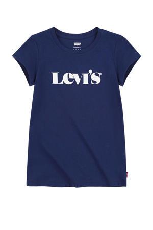 Levi's Kids T-shirt Graphic met logo donkerblauw