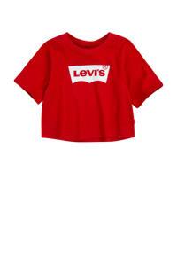 Levi's Kids T-shirt Light Bright met logo rood, Rood