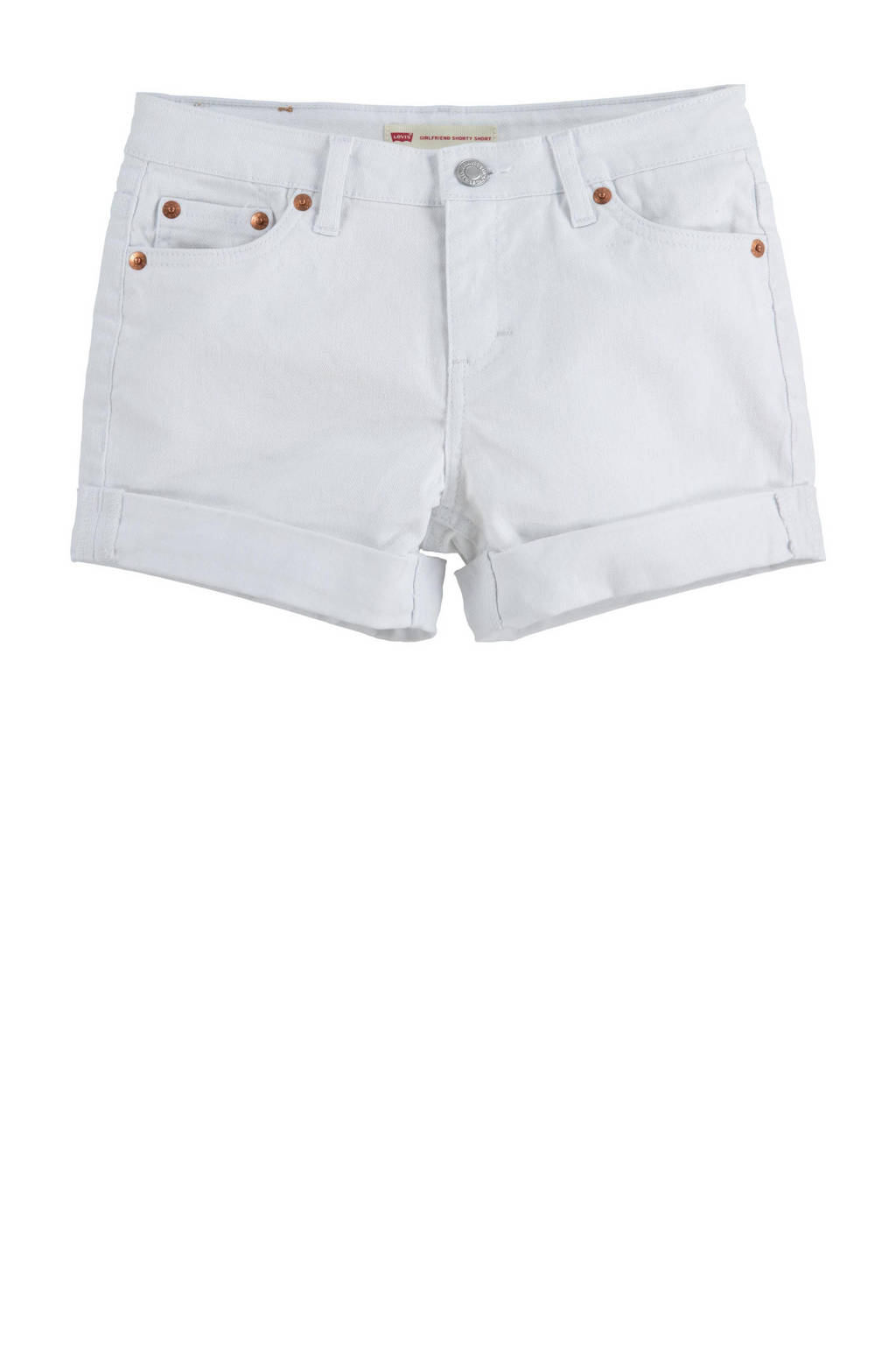 Levi's Kids Girlfriend loose fit jeans short white001, WHITE001