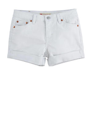 Levi's Kids Girlfriend loose fit jeans short white001