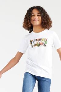 Levi's Kids T-shirt Graphic met logo wit, Wit