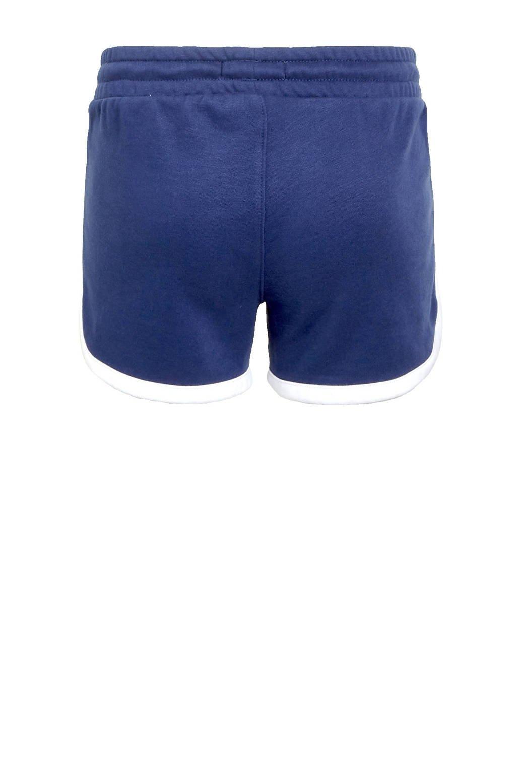 Levi's Kids sweatshort met zijstreep donkerblauw/wit/rood, Donkerblauw/wit/rood