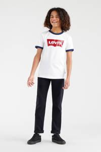 Levi's Kids T-shirt Batwing ringer met contrastbies wit, Wit