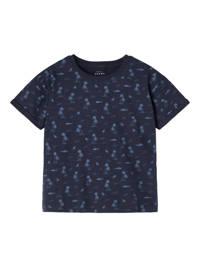 NAME IT MINI T-shirt Valther van biologisch katoen donkerblauw, Donkerblauw