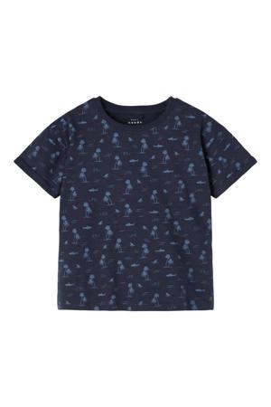 T-shirt Valther van biologisch katoen donkerblauw