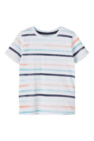 gestreept T-shirt Fanti met biologisch katoen wit/blauw/oranje