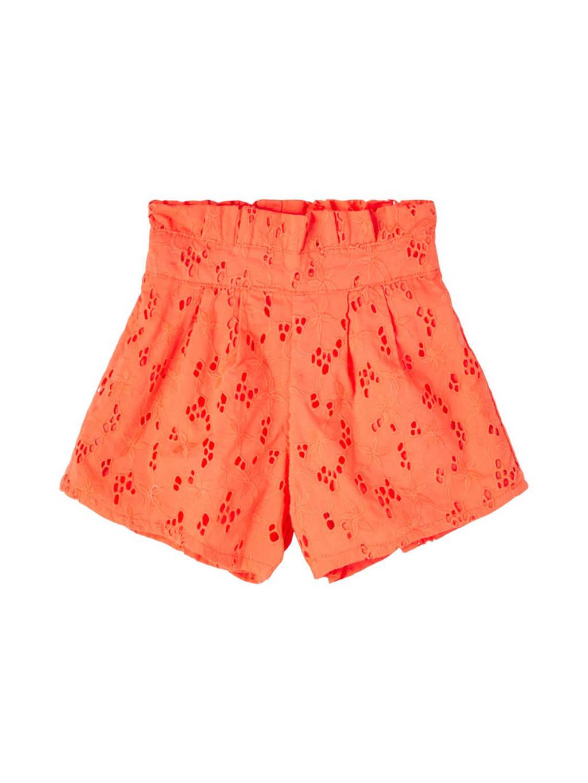 NAME IT KIDS short Fanne van biologisch katoen oranje, Oranje