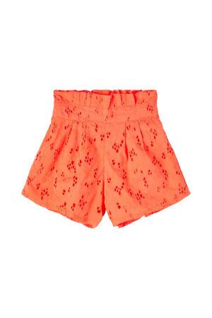 short Fanne van biologisch katoen oranje