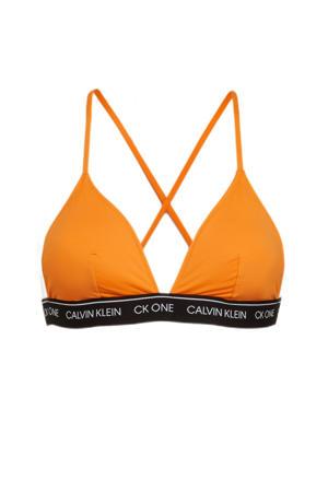 triangel bikinitopje oranje