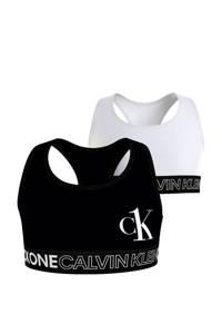 CALVIN KLEIN bh top - set van 2 wit/zwart, Wit/zwart
