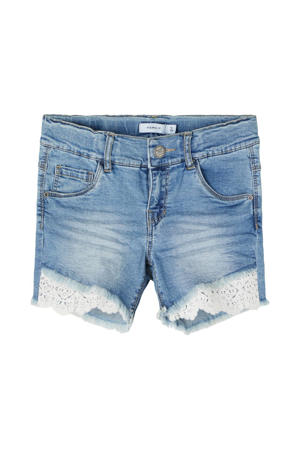 slim fit jeans short Salli blauw