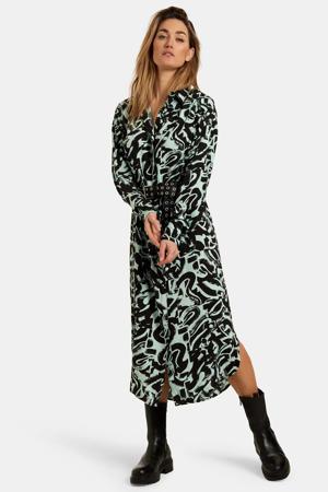 maxi jurk New Baggy met all over print groen