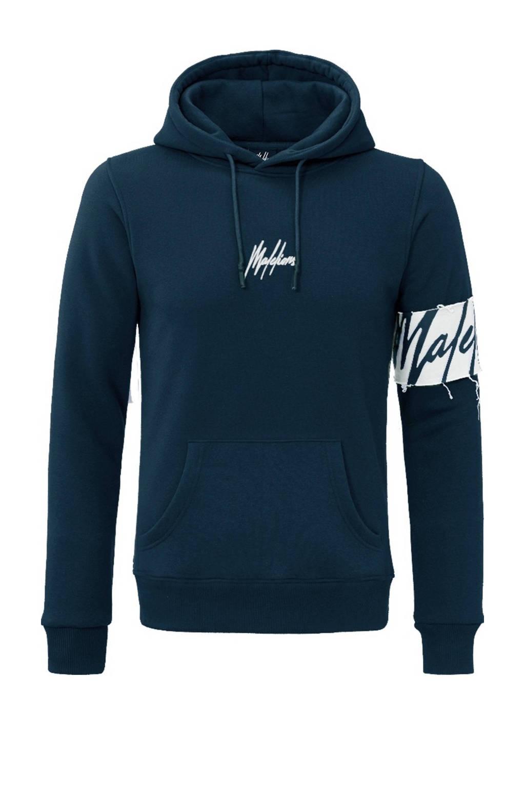 Malelions hoodie met logo donkerblauw, Donkerblauw