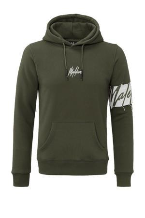 hoodie met logo legergroen