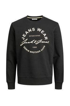 sweater Hero met logo zwart