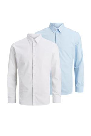 overhemd (set van 2 ) wit/lichtblauw