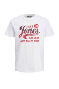 JACK & JONES T-shirt met logo wit, Wit