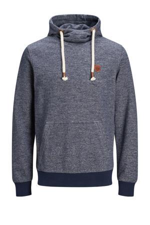 gemêleerde hoodie blauw