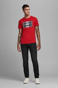 JACK & JONES ESSENTIALS T-shirt Jjecorp met logo rood, Rood