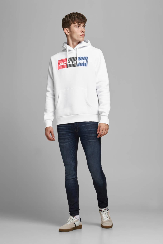 JACK & JONES ESSENTIALS hoodie met logo wit, Wit