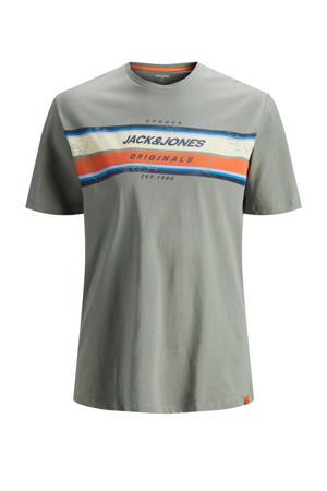 T-shirt Tyler met logo Plus Size groen