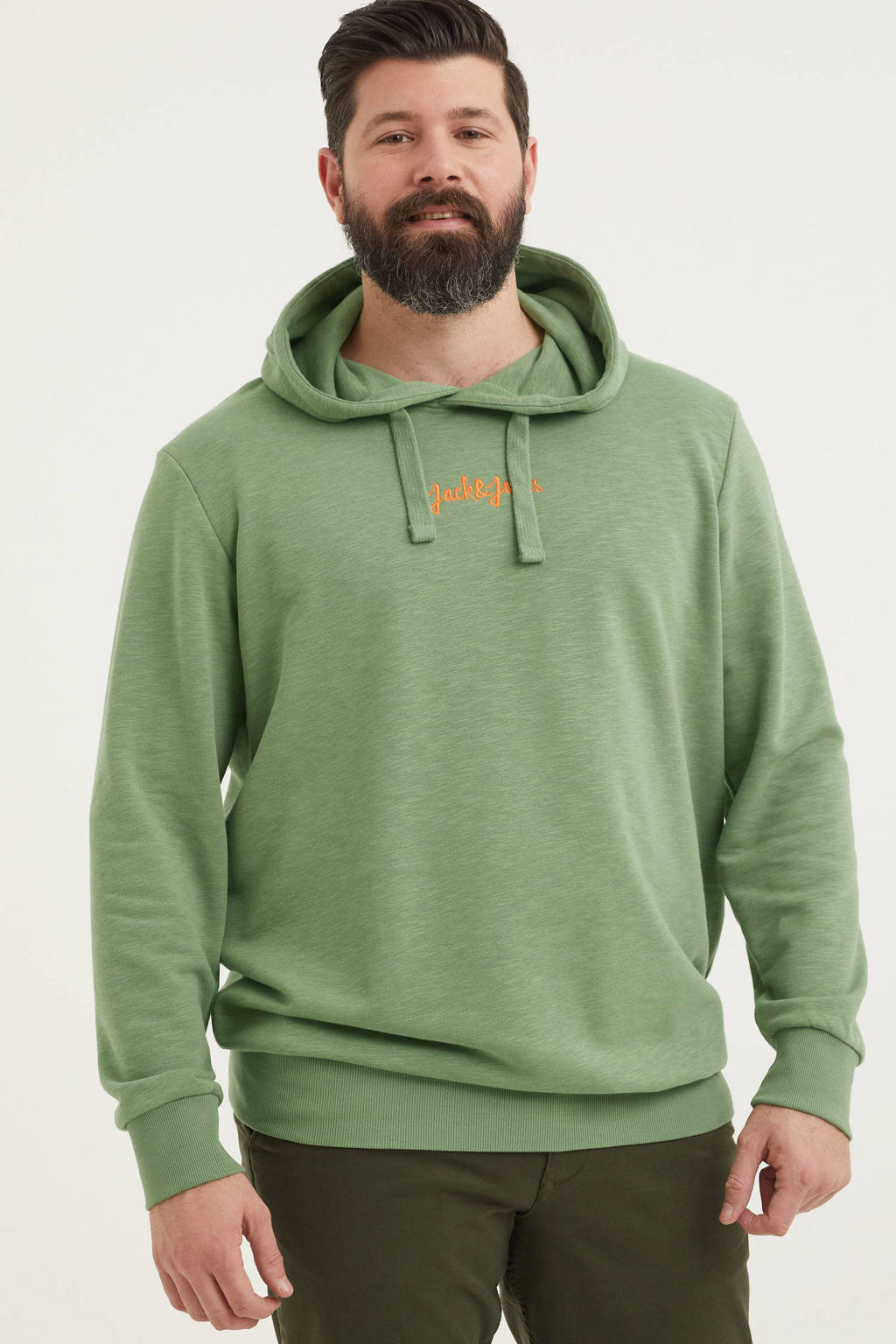 JACK & JONES PLUS SIZE hoodie Stockholm Plus Size groen, Groen