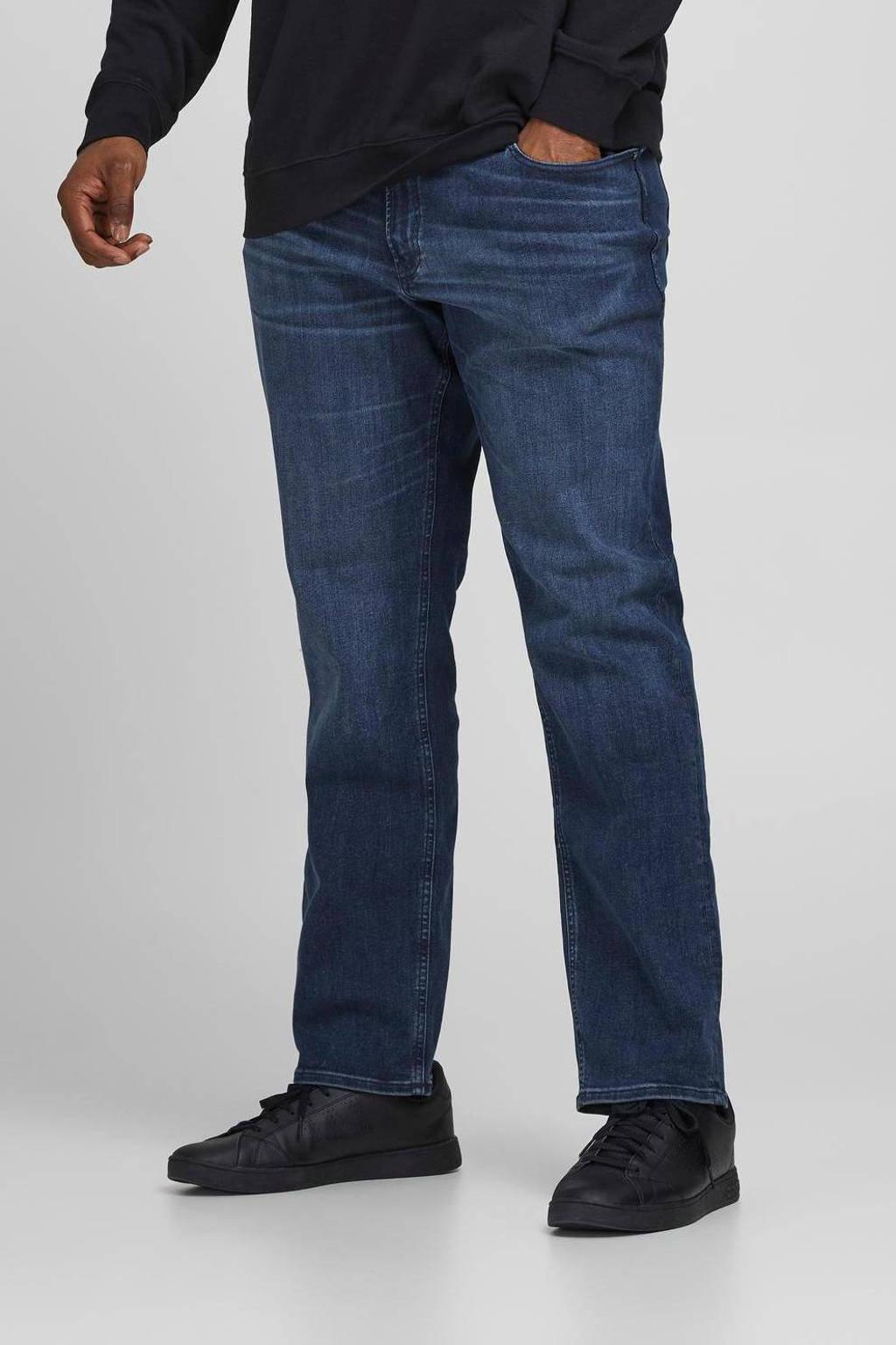 JACK & JONES PLUS SIZE slim fit jeans Glenn Originals Plus Size blue denim, Blue denim