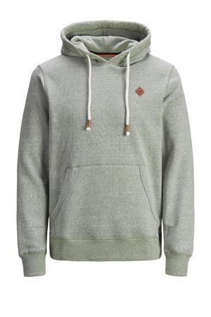 hoodie Tons Plus Size grijsgroen melange