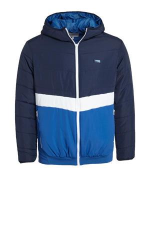 jas Plus Size donkerblauw/wit