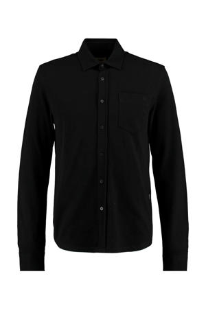 slim fit overhemd Hunt zwart