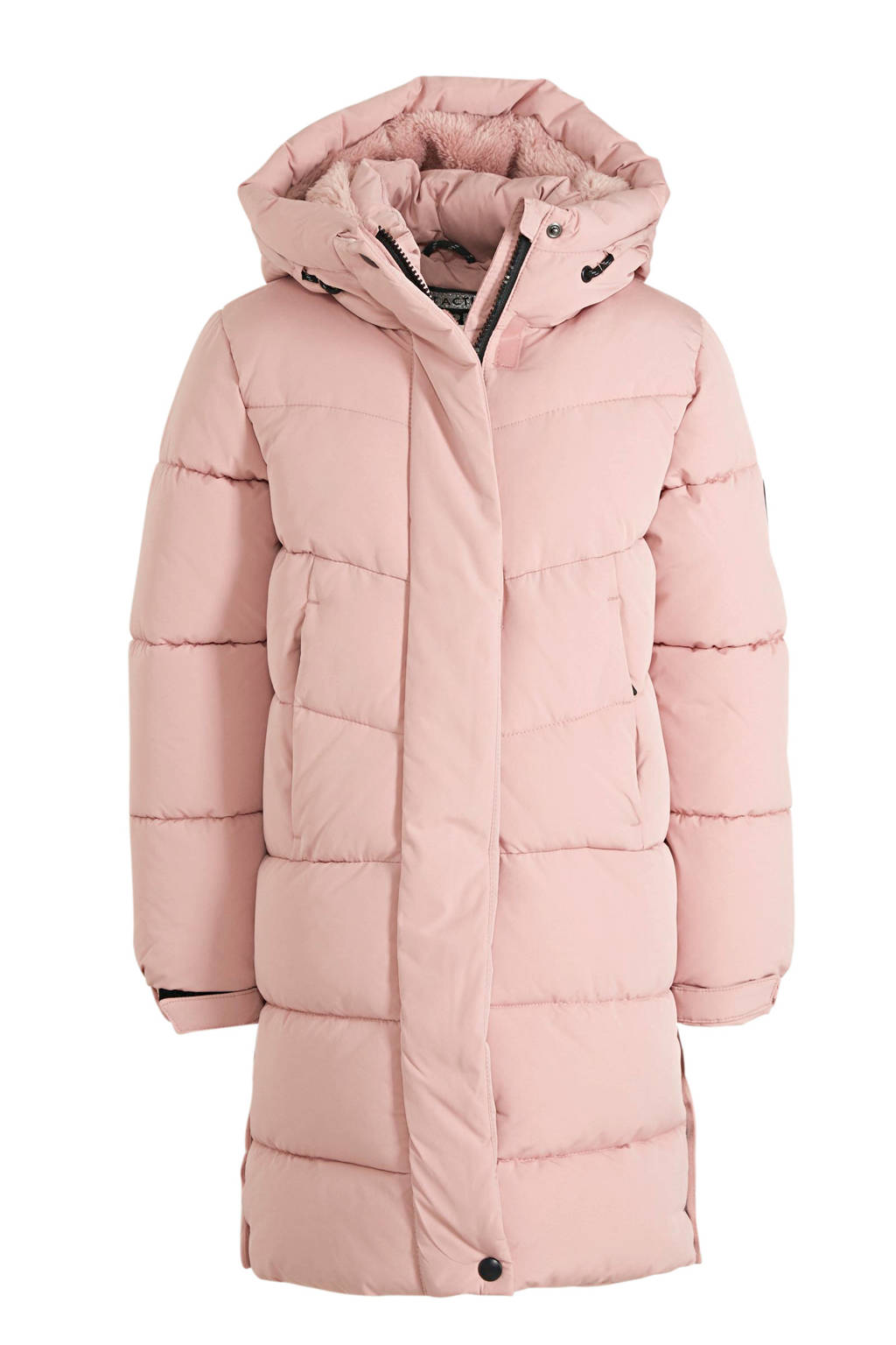 C&A Here & There gewatteerde winterjas roze, Roze