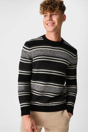 gestreepte trui zwart