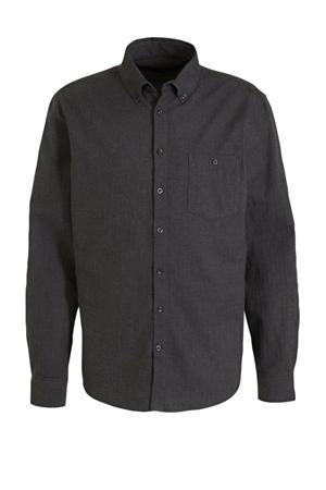 slim fit overhemd antraciet