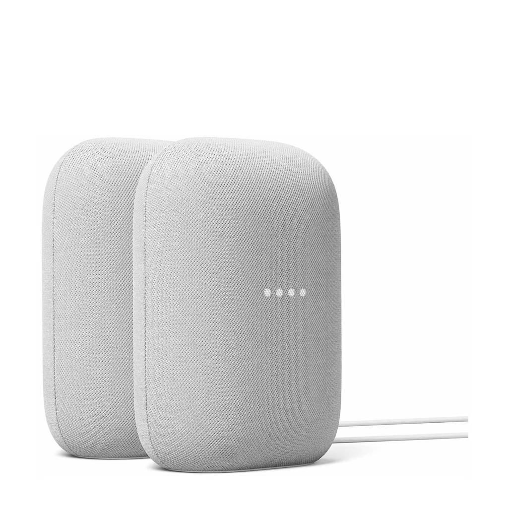 Google Nest Audio 2 pack (licht grijs), Licht grijs