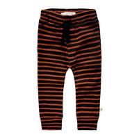 Your Wishes baby gestreepte broek met biologisch katoen bruin/zwart, Bruin/zwart