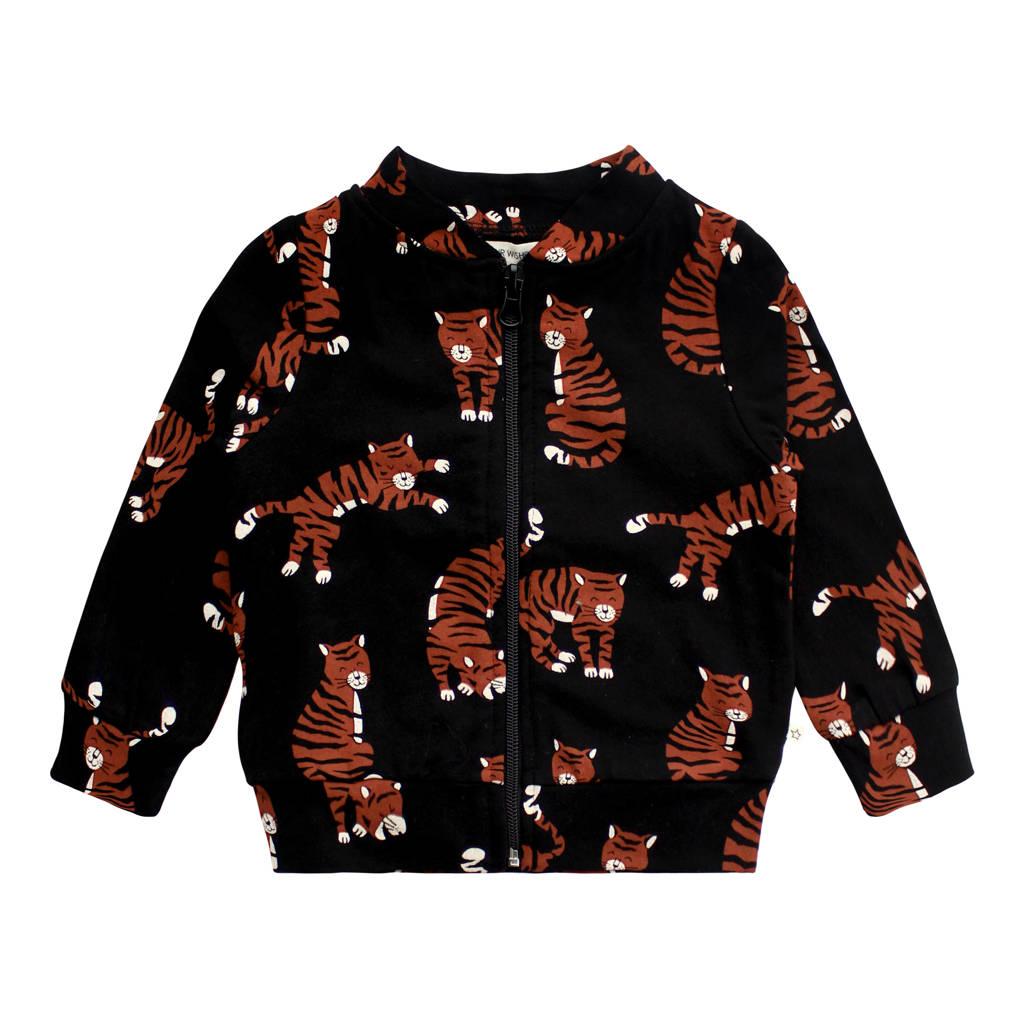 Your Wishes baby vest met biologisch katoen zwart/bruin, Zwart/bruin