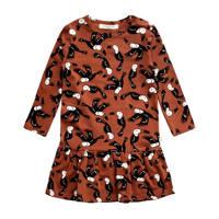 Your Wishes baby A-lijn jurk met biologisch katoen bruin/zwart, Bruin/zwart