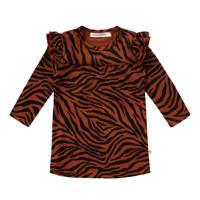 Your Wishes A-lijn jurk met biologisch katoen bruin/zwart, Bruin/zwart