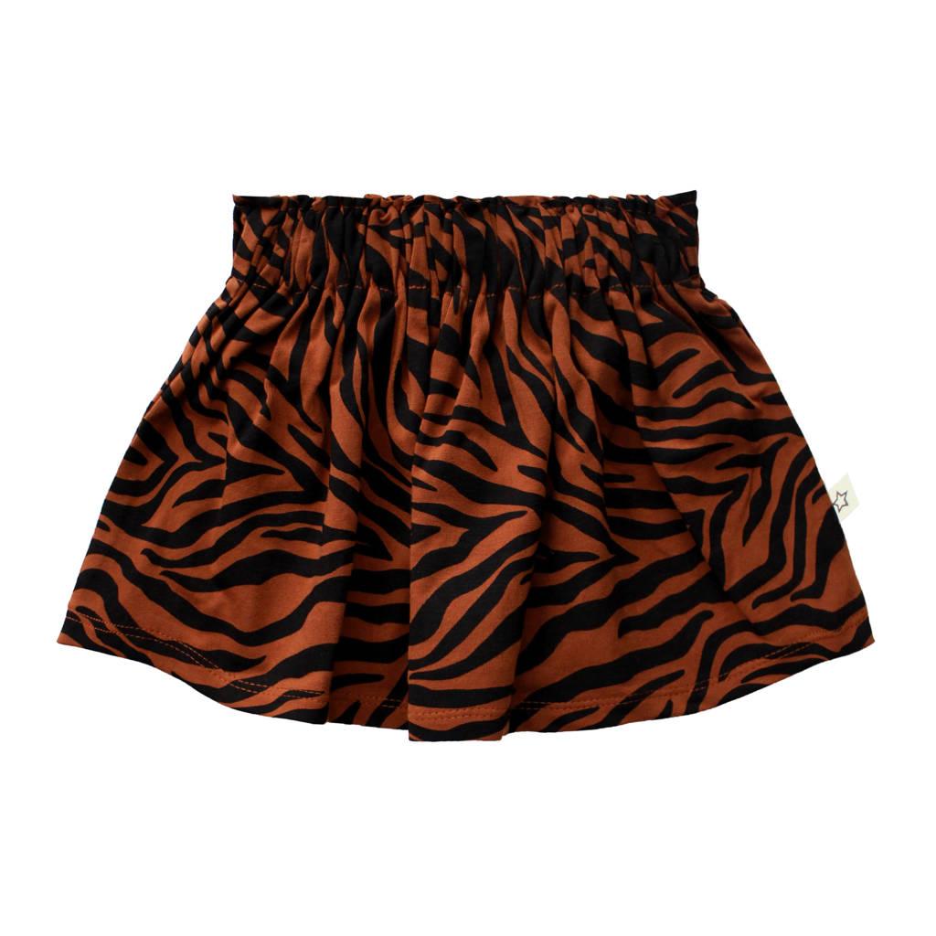Your Wishes rok met biologisch katoen bruin/zwart, Bruin/zwart