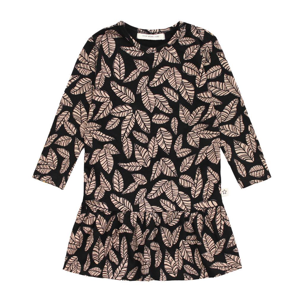 Your Wishes A-lijn jurk met biologisch katoen zwart/bruin, Zwart/bruin
