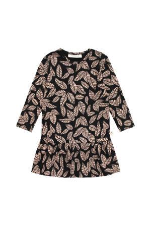A-lijn jurk met biologisch katoen zwart/bruin