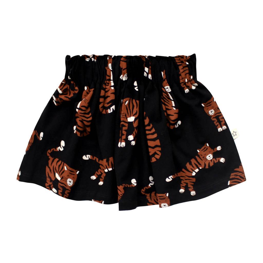 Your Wishes rok met biologisch katoen zwart/bruin, Zwart/bruin