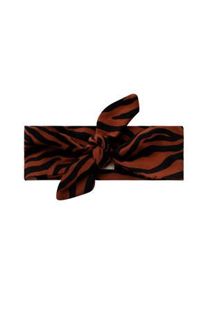 haarband zebra bruin/zwart